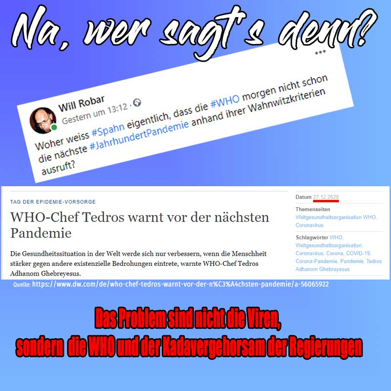WHO-Chef Tedros warnt vor der nächsten Pandemie